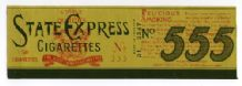 Old cigarette packet label for tins of 50 GB #021